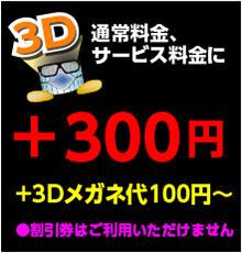3D +300円